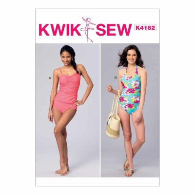 Kwik Sewing Pattern K4182 Misses' Ruched Tankini and One-Piece Halter Swimsuit