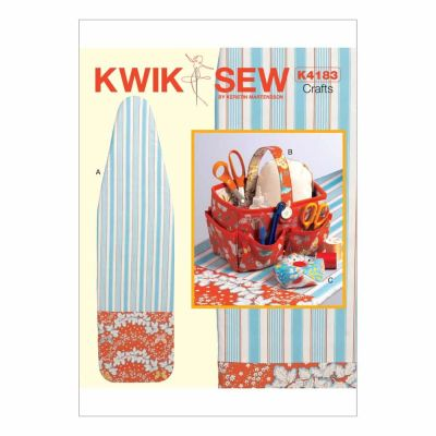 Kwik Sewing Pattern K4183 Sewing Basket, Pincushion and Ironing Board Cover