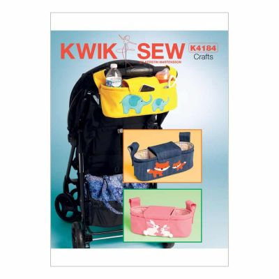Kwik Sewing Pattern K4184 Rabbit, Fox and Elephant Stroller Organizer Bags