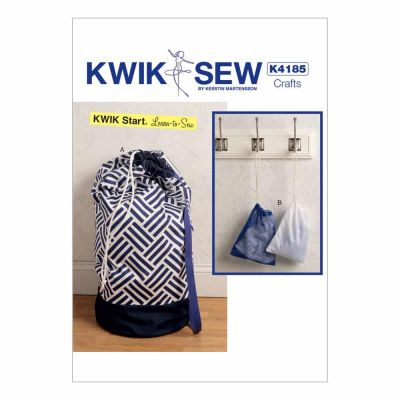 Kwik Sewing Pattern K4185 Drawstring Laundry Bags in Two Sizes