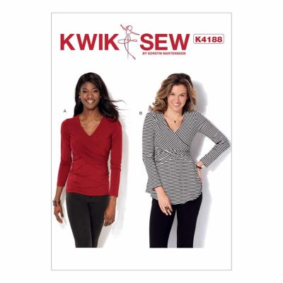 Kwik Sewing Pattern K4188 Misses' Front-Crossover Tops