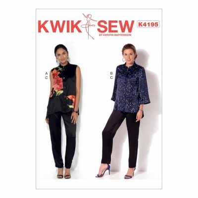 Kwik Sewing Pattern K4195 Misses' Button-Down Vest and Jacket, and Pull-On Pants