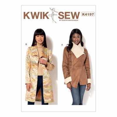 Kwik Sewing Pattern K4197 Misses' Shawl Collar Jacket and Coat