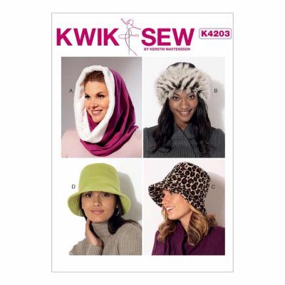 Kwik Sewing Pattern K4203 Misses' Hood, Beanie and Bucket Hats