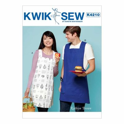 Kwik Sewing Pattern K4210 Pullover Unisex Aprons with Criss-Cross Straps and Patch Pockets