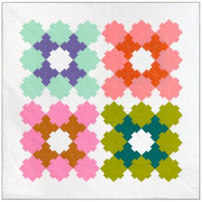 Robert Kaufman Kona Quilt Patterns - Granny Square Quilt Pattern