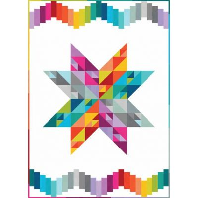 Robert Kaufman Kona Quilt Patterns - Summer Star Quilt Pattern