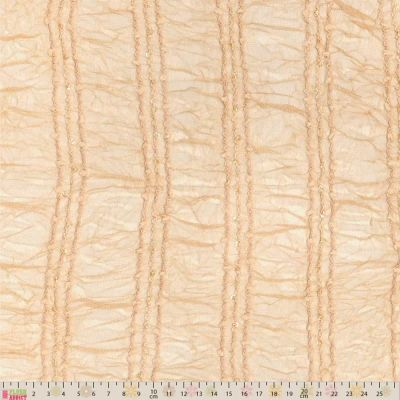 Shirred Stretch Crinkle Lace - Flesh