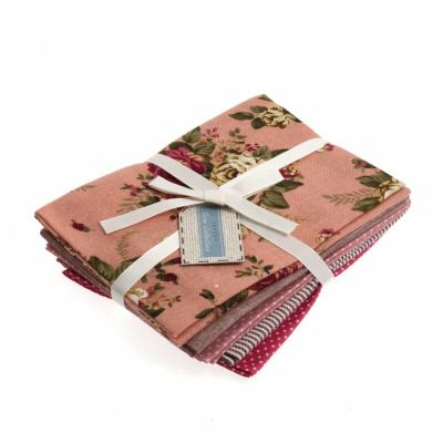 Linen Blend - Pretty Pinks - 5 Fat Quarters