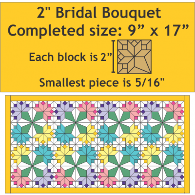 Paper Pieces - Mini Bridal Bouquet Pattern - Pattern Plus Paper Pieces
