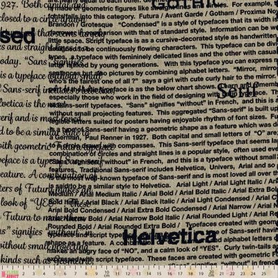 Remnant -Lecien - First Of Infinity - Fonts Natural / Black Oxford Cloth - 59 x 110cm