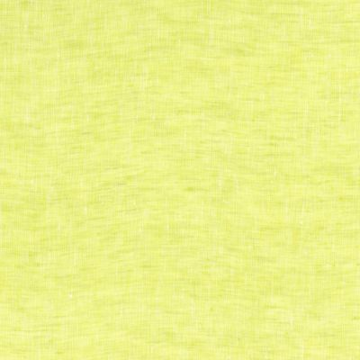 100% Linen Fabric - Plain - Lemongrass
