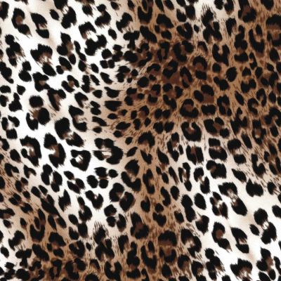 Stretch Cotton Fabric - Leopard Print