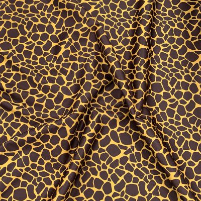 Plush Addict Giraffe Print Patterned PUL Fabric (Polyurethane Laminate fabric) - Waterproof Breathable Fabric