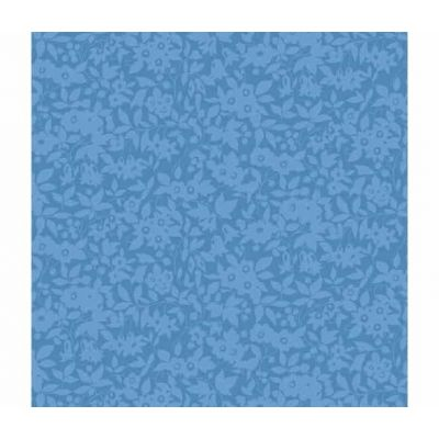 Liberty The Cottage Garden Daisy Shadow Blue Cut Length