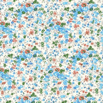Regency Cotton Lawn Fabric - Petite Blue Floral