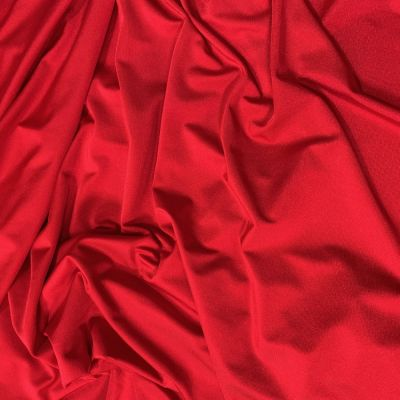 Remnant - Red 4 Way Stretch Lycra Fabric - 85 x 150cm - Creased