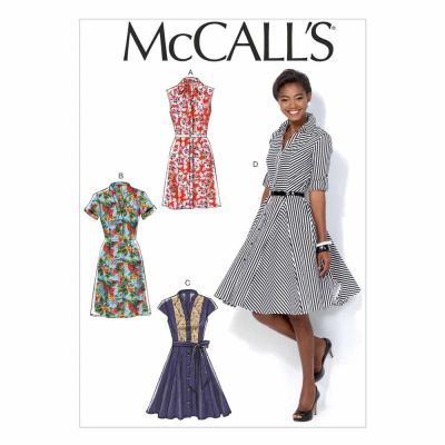 McCalls Sewing Pattern M7084 Misses' Dresses and Belt