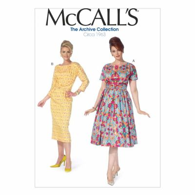 McCalls Sewing Pattern M7086 Misses'/Women's Dresses
