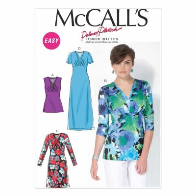 McCalls Sewing Pattern M7092 Misses' Tops and Dresses