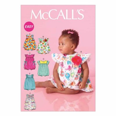 McCalls Sewing Pattern M7107 Infants' Rompers