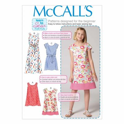 McCalls Sewing Pattern M7111 Children's/Girls' Dresses and Belt