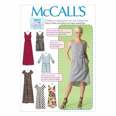 McCalls Sewing Pattern M7120 Misses' Dresses and Belt