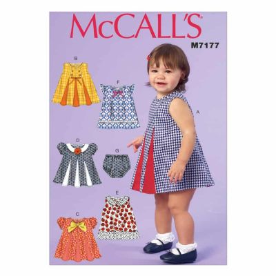 McCalls Sewing Pattern M7177 Infants' Dresses and Panties