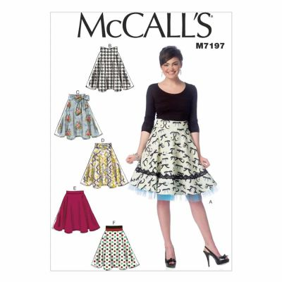 McCalls Sewing Pattern M7197 Misses' Skirts