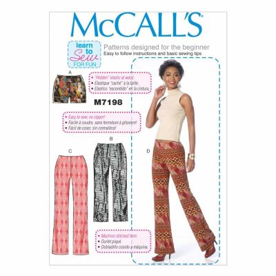 McCalls Sewing Pattern M7198 Misses' Shorts and Pants