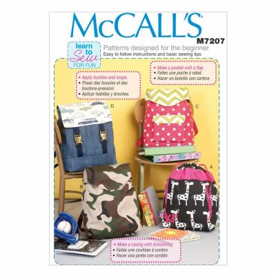 McCalls Sewing Pattern M7207 Backpacks