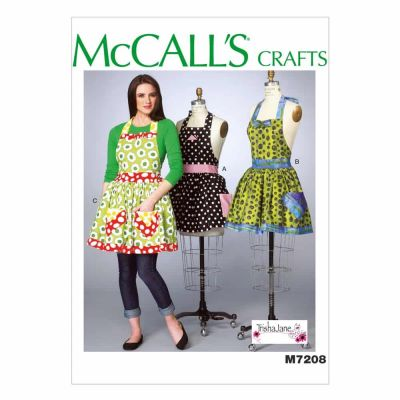 McCalls Sewing Pattern M7208 Misses' Aprons and Petticoat