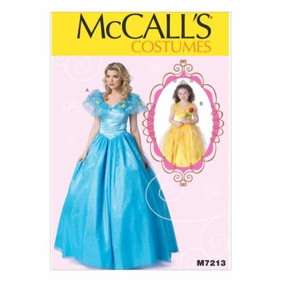 McCalls Sewing Pattern M7213 Floor-Length Dress with Full Skirt