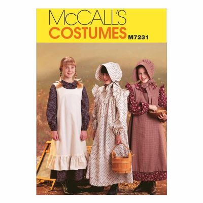 McCalls Sewing Pattern M7231 Girls' Pioneer Costumes
