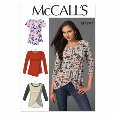 McCalls Sewing Pattern M7247 Misses' Tops