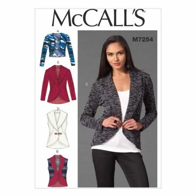 McCalls Sewing Pattern M7254 Misses' Cardigans