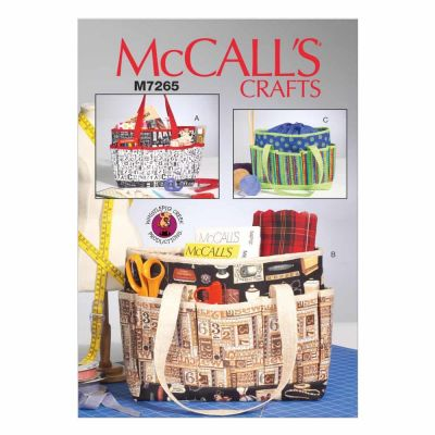 McCalls Sewing Pattern M7265 Project Totes