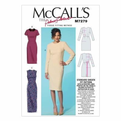 McCalls Sewing Pattern M7279 Misses' Dresses and Optional Collar