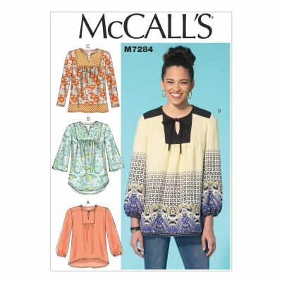 McCalls Sewing Pattern M7284 Misses' Tops