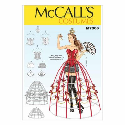 McCalls Sewing Pattern M7306 Corsets, Shorts, Collars, Hoop Skirts and Crown
