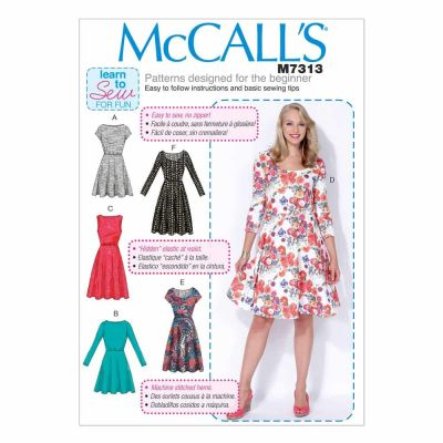 McCalls Sewing Pattern M7313 Misses'/Women's Flared Dresses