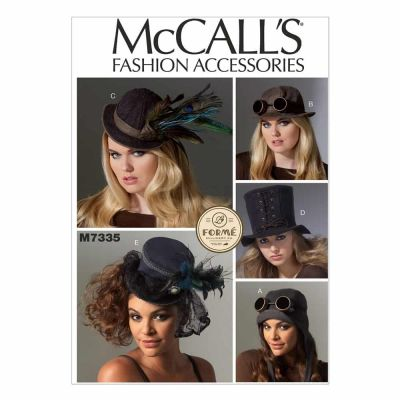 Remnant -McCalls Sewing Pattern M7335 - Hats in Five Styles - End of Line