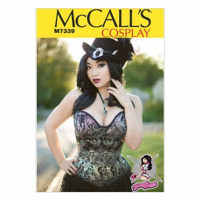 McCalls Sewing Pattern M7339 Misses' Overbust or Underbust Corsets by Yaya Han