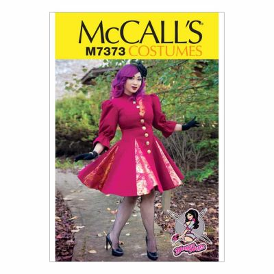 McCalls Sewing Pattern M7373 Fit and Flare or Godet Coats with Stand-Up Collar