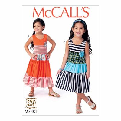 McCalls Sewing Pattern M7401 Children's/Girls' Dresses