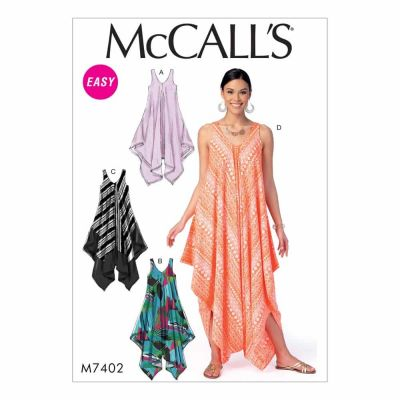 McCalls Sewing Pattern M7402 Misses' Dresses and Jumpsuit