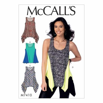 McCalls Sewing Pattern M7410 Misses' Tops