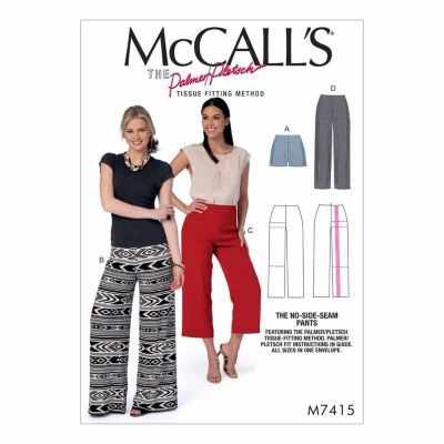 McCalls Sewing Pattern M7415 Misses' Shorts and Pants