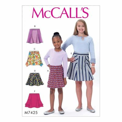 McCalls Sewing Pattern M7425 Children's/Girls' Flared Skirts with Gores