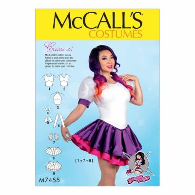 McCalls Sewing Pattern M7455 Misses' Skirted Leotards with Mix-and-Match Design Variations